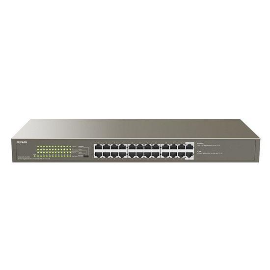 Picture of Tenda TEG1124P-4-250W 24-Port (24-Port PoE) Gigabit Desktop Switch