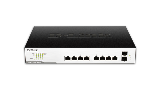 Picture of D-Link DGS-1100-10MP Smart Managed 10-Port Gigabit PoE Switch