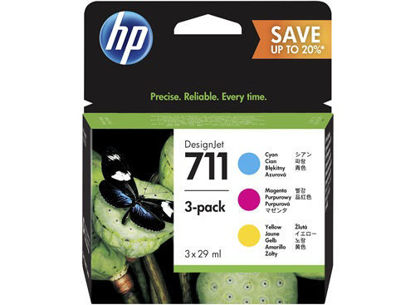 HP P2V32A nr.711, cyan/magenta/yellow, komplet barvnih kartuš