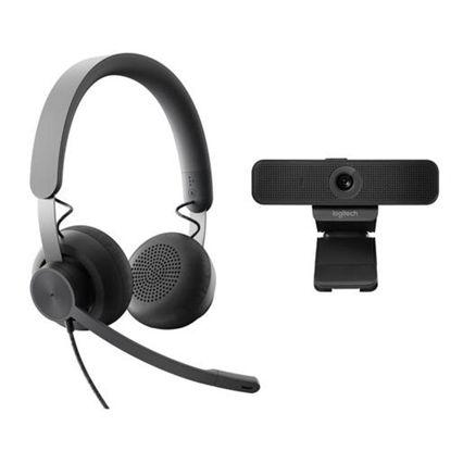 Logitech C925E Kit Business Full HD + headset (991-000339) Black, spletna kamera + slušalke